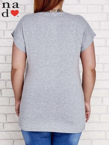 Szary t-shirt basic PLUS SIZE