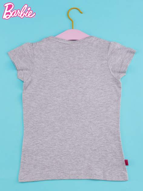 Szary t-shirt dla dziewczynki BARBIE                                  zdj.                                  2