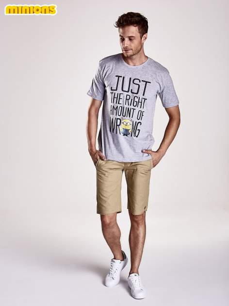 Szary t-shirt męski MINIONKI                                  zdj.                                  4