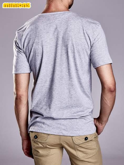 Szary t-shirt męski MINIONS                                   zdj.                                  2