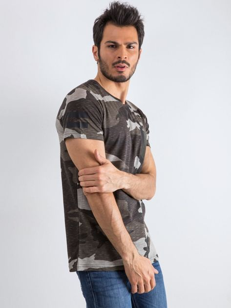 Szary t-shirt męski Warrior                              zdj.                              1
