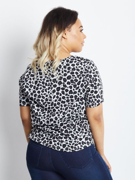 Szary t-shirt plus size Frequent                              zdj.                              2