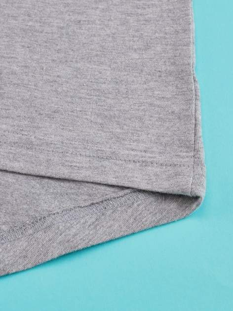 Szary t-shirt z falbankami na rękawach dla dziewczynki ŚWINKA PEPPA                                  zdj.                                  4