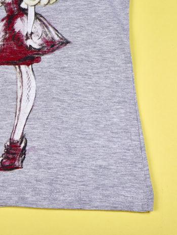Szary t-shirt z koronką dla dziewczynki EVER AFTER HIGH                                  zdj.                                  5