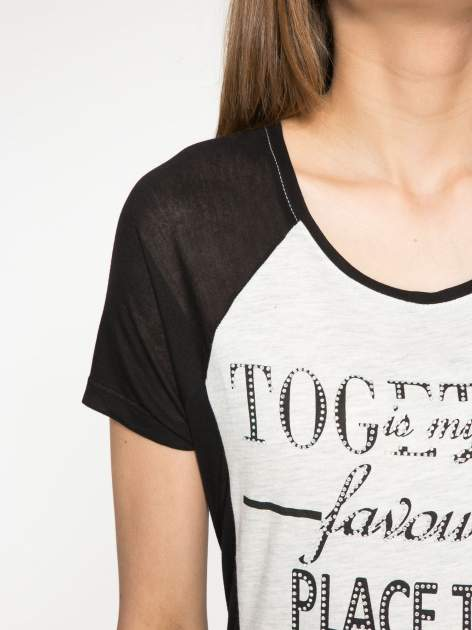 Szary t-shirt z napisem TOGETHER IS MY FAVOURITE PLACE TO BE                                  zdj.                                  5