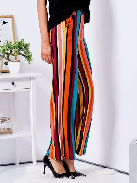 Szerokie spodnie w kolorowe pasy                              zdj.                              6