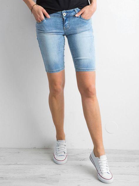 Szorty jeansowe z przetarciami niebieskie                              zdj.                              5