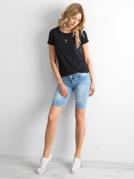 Szorty jeansowe z przetarciami niebieskie                              zdj.                              4