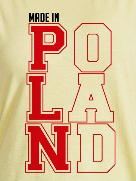 T-shirt damski patriotyczny MADE IN POLAND żółty                              zdj.                              2