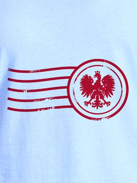 T-shirt damski z patriotycznym nadrukiem niebieski                              zdj.                              2