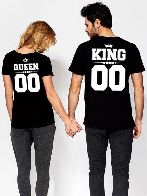 T-shirt dla par czarny QUEEN                                  zdj.                                  3