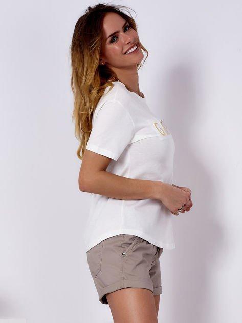 T-shirt ecru GIRL PRIDE                                   zdj.                                  3