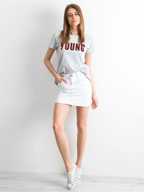 T-shirt szary Young                                  zdj.                                  2