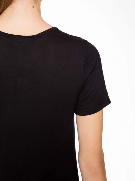 T-shirt w biało-czarne paski z siateczkową górą                                  zdj.                                  8