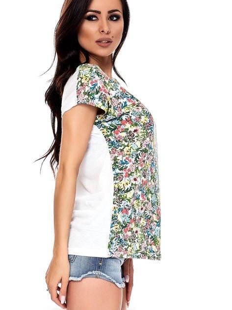 T-shirt w kolorowe drobne kwiatki                              zdj.                              5