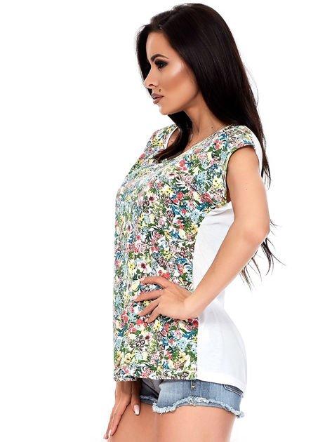 T-shirt w kolorowe drobne kwiatki                              zdj.                              8