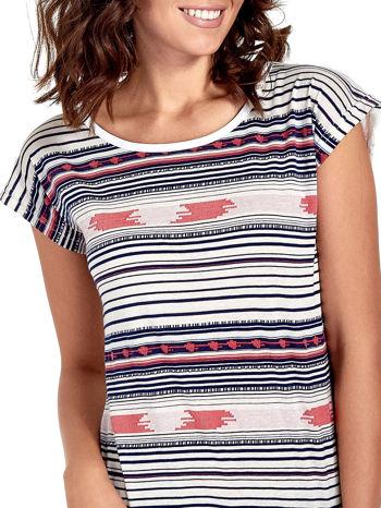 T-shirt w nieregularne paski                                  zdj.                                  5