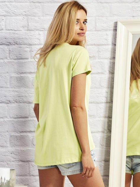 T-shirt z motywem torebek limonowy                                  zdj.                                  5