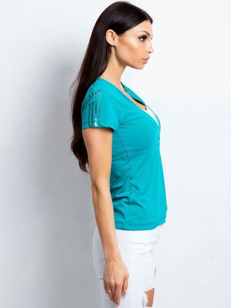 T-shirt z wycięciem na plecach zielony