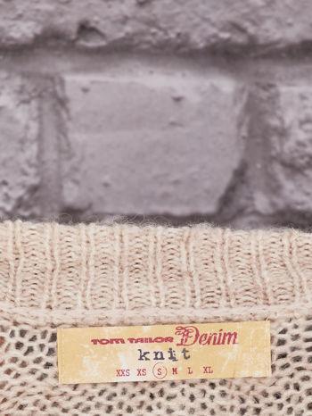 TOM TAILOR Beżowy włóczkowy sweter                                   zdj.                                  4