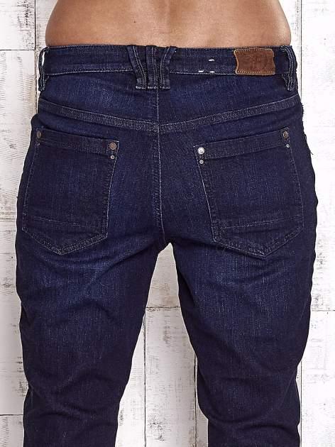 TOM TAILOR Ciemnoniebieskie modułowe spodnie jeansowe                                   zdj.                                  6