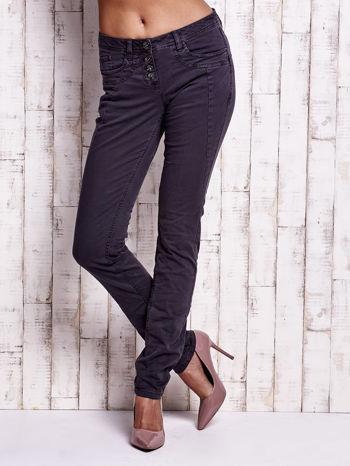 TOM TAILOR Ciemnoszare spodnie regular jeans z przeszyciami                                  zdj.                                  1