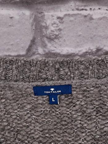 TOM TAILOR Ciemnoszary włóczkowy sweter                                  zdj.                                  4