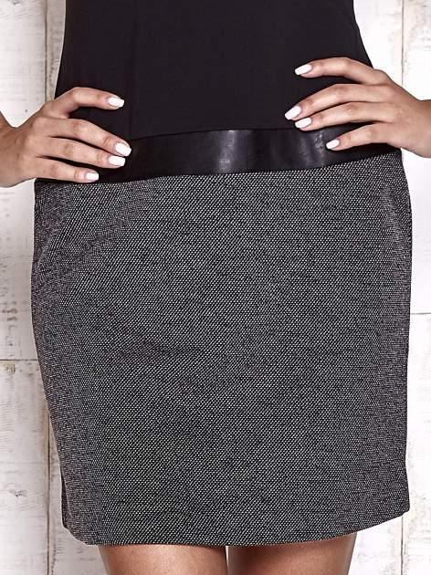 TOM TAILOR Czarna sukienka o kroju litery A                                  zdj.                                  6