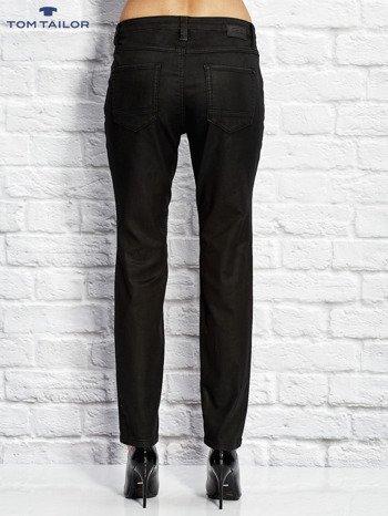 TOM TAILOR Czarne spodnie regular z przeszyciami                                  zdj.                                  2