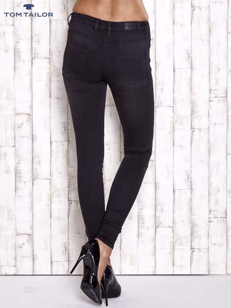 TOM TAILOR Czarne spodnie skinny jeans z dżetami                                  zdj.                                  2