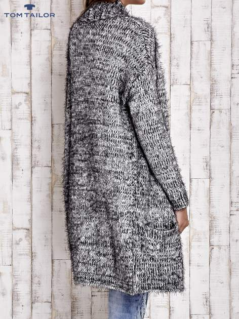 TOM TAILOR Czarny włochaty sweter z kieszeniami                                  zdj.                                  6