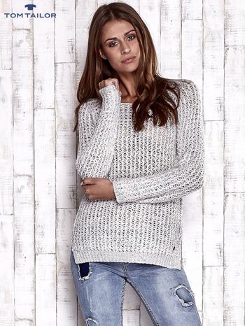 TOM TAILOR Ecru ażurowy sweter                                  zdj.                                  5
