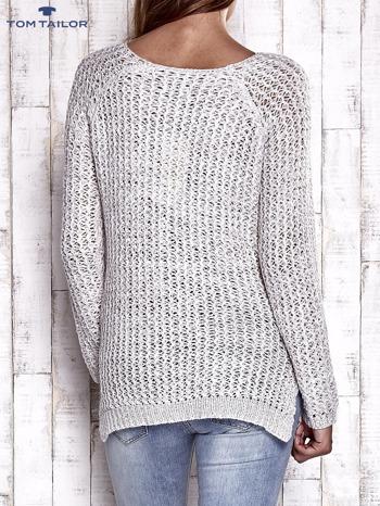 TOM TAILOR Ecru ażurowy sweter                                  zdj.                                  2