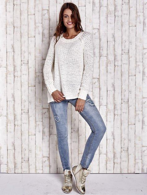 TOM TAILOR Ecru włóczkowy sweter                                  zdj.                                  4