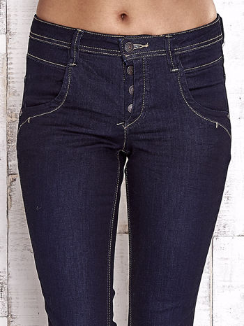 TOM TAILOR Granatowe spodnie regular jeans                                  zdj.                                  4