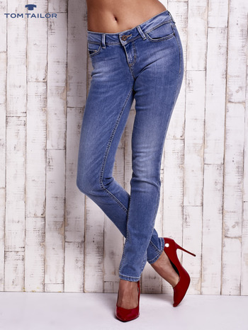 TOM TAILOR Niebieskie jeansy z przetarciami                                  zdj.                                  1