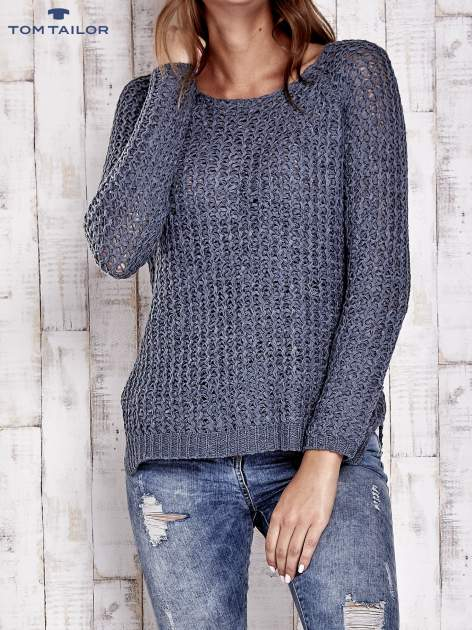 TOM TAILOR Szary ażurowy sweter                                  zdj.                                  2
