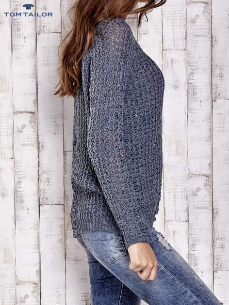 TOM TAILOR Szary ażurowy sweter                                  zdj.                                  4