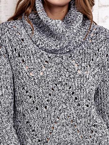 TOM TAILOR Szary melanżowy sweter z golfem                                  zdj.                                  7