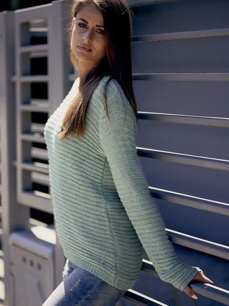 TOM TAILOR Zielony włóczkowy sweter                                  zdj.                                  9
