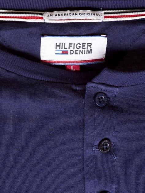 TOMMY HILFIGER Granatowa bluzka męska z guzikami                                   zdj.                                  6