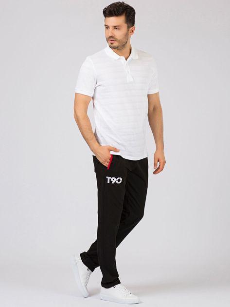 TOMMY LIFE Czarne długie spodnie męskie                              zdj.                              5