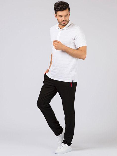 TOMMY LIFE Czarne długie spodnie męskie                              zdj.                              6