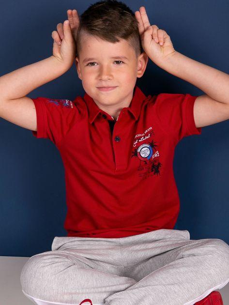 TOMMY LIFE Czerwona koszulka polo chłopięca