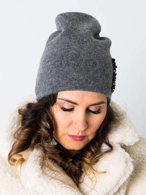 V&T Winter Fashion Ciemnoszara Ocieplana Czapka Męska                              zdj.                              4