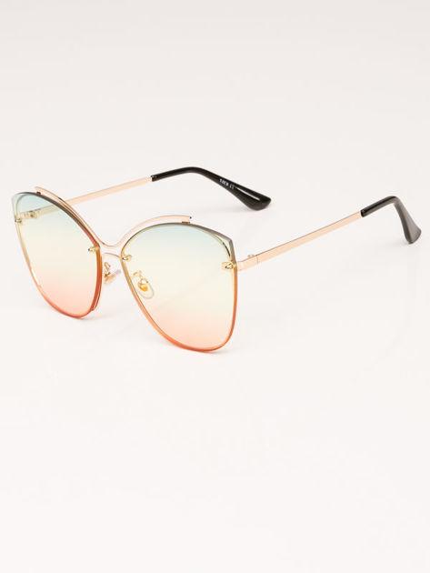 VICS Okulary przeciwsłoneczne damskie złote szkło multicolor                              zdj.                              3