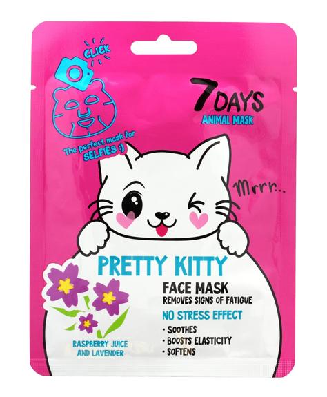 """VILENTA 7 Days Animal Maska na twarz w płacie usuwająca oznaki zmęczenia Pretty Kitty 28g"""""""
