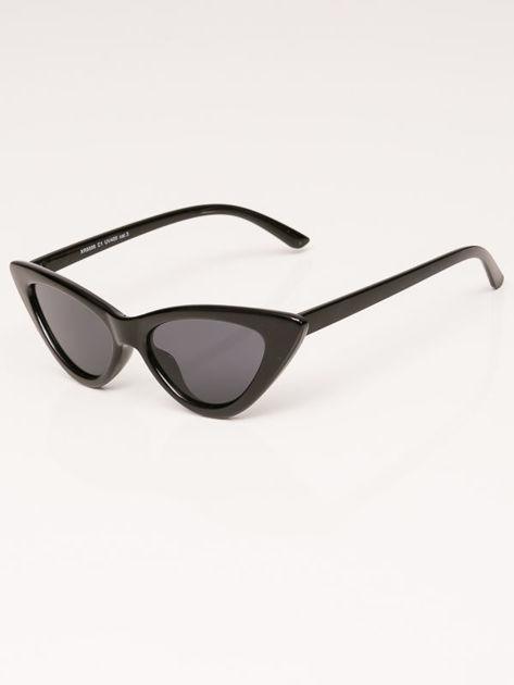 VIP LIFE Okulary przeciwsłoneczne damskie czarne szkło szare                              zdj.                              2
