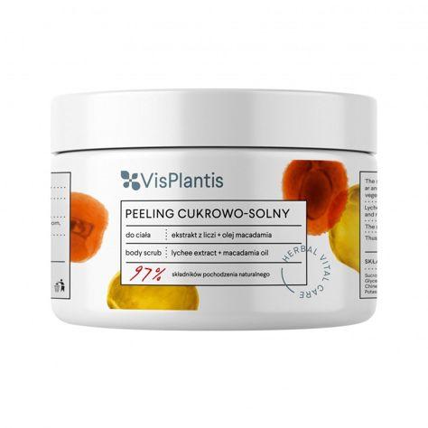Vis Plantis Herbal Vital Care Peeling cukrowo-solny do ciała Ekstrakt z Liczi + Olej Macadamia 200 ml                              zdj.                              1