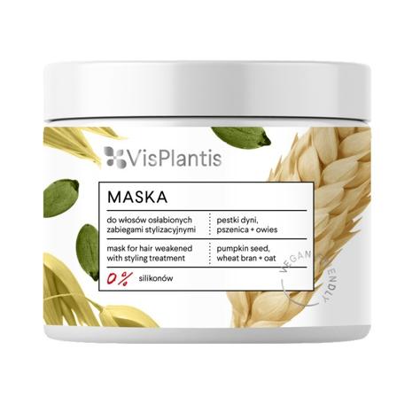 """Vis Plantis Vegan Friendly Maska do włosów osłabionych -Pestki Dyni,Pszenica i Owies  400ml"""""""